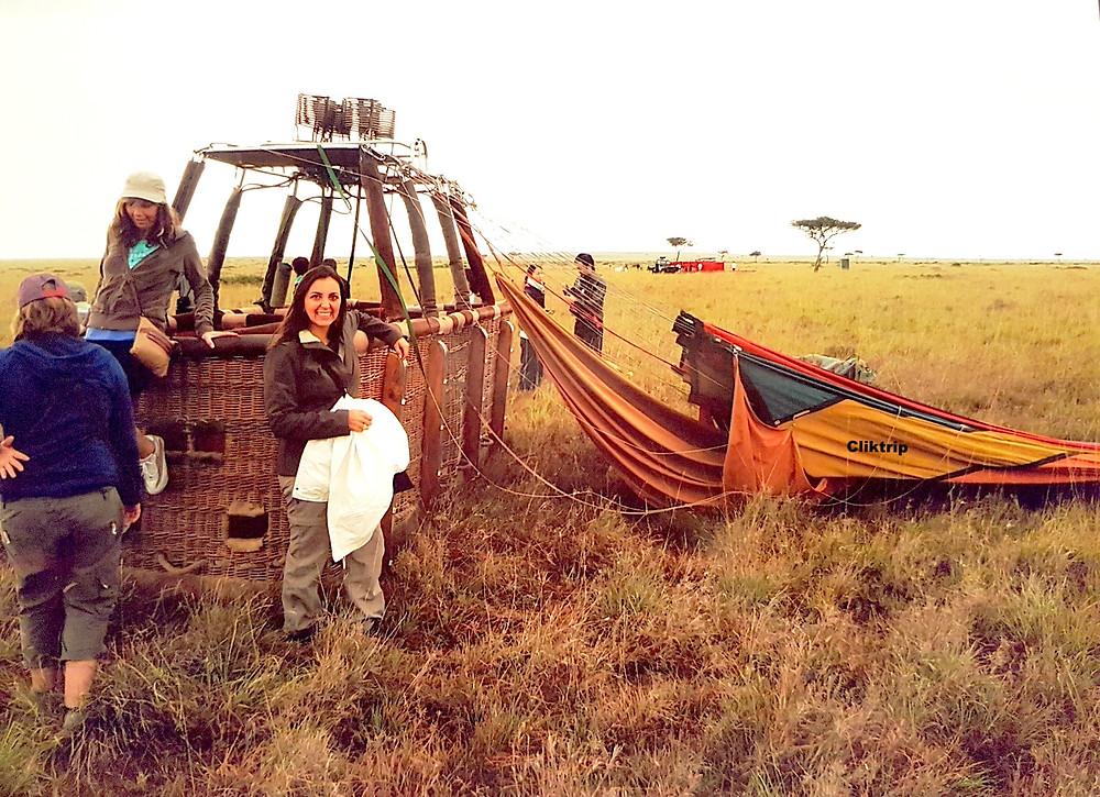 Balão no Quenia