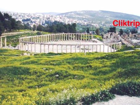 Jerash - cidade greco - romana na Jordânia