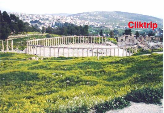 Fórum Oval Romano - Jerash - Jordânia