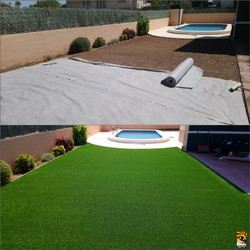 Before and after - Artificial Grass