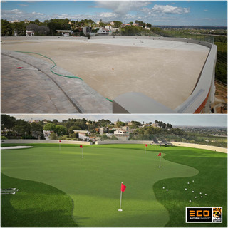 Putting Green Golf Antes y Después