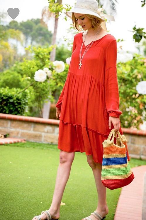 Summer coral dress