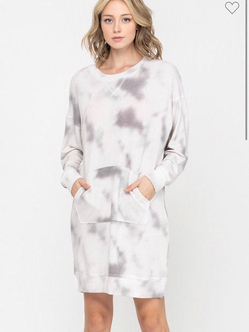 Clouds French terry dress