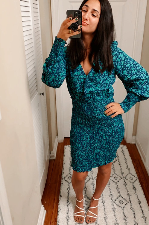 Ruched lagoon dress