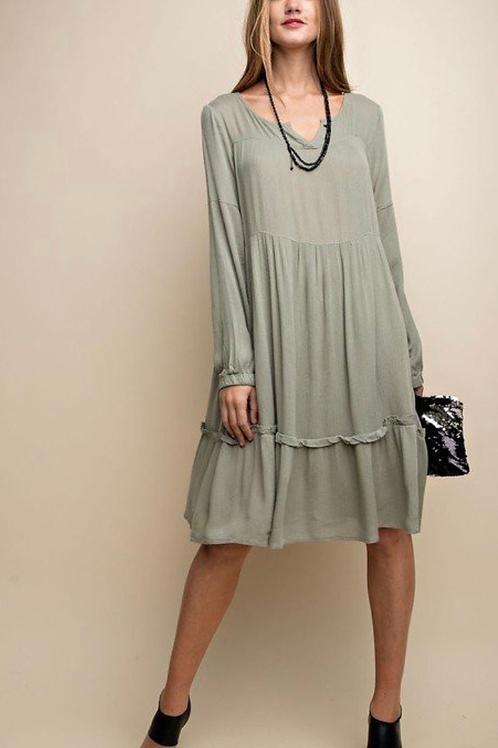 Summer sage dress