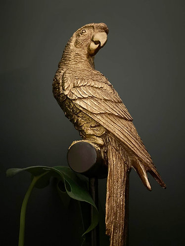 Gold Parrot Ornament on Stand