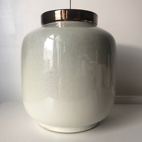 Metallic and Cream Porcelain Vase