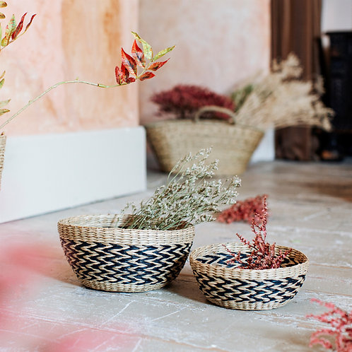 Natural Seagrass Storage Bowls