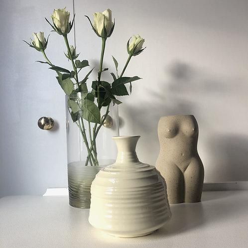Contemporary Cream Vase