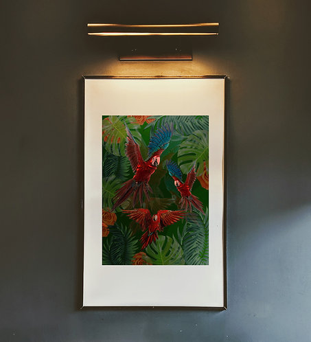 Red Parrot Print