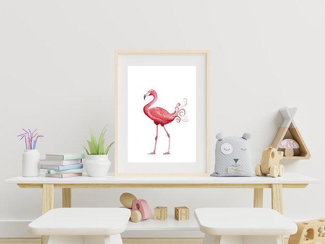 Flamingo Watercolour Print