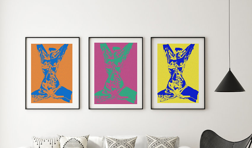 Trio of Pop Art Style Prints