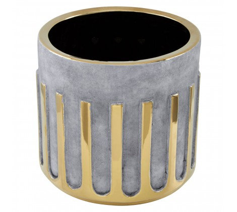 Grey and Gold Planter
