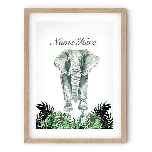Personalised Elephant Print