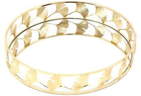 Decorative Lotus Gold Mirrored Tray