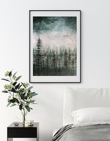 Dark Forest - Original Print