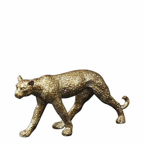 Antique Gold Small  Leopard Ornament