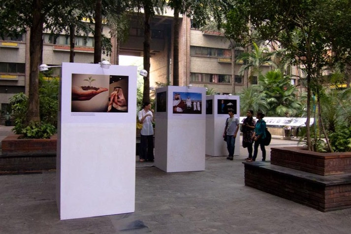 """Installation view of Bharat Choudhary's """"The Silence of the Others"""""""
