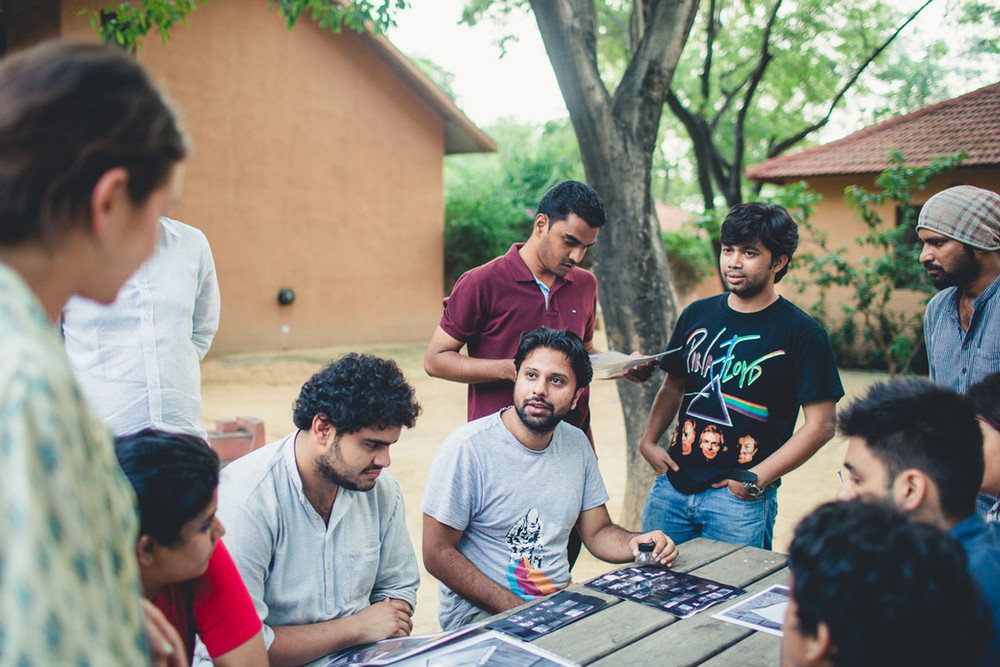 """Sumit Dayal with his students during his workshop """"The Photographic Essay"""""""