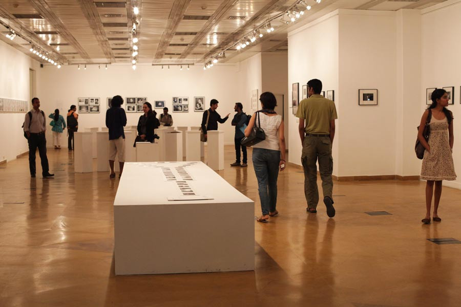 Various exhibitions displayed in the Visual Arts gallery of the India Habitat Centre