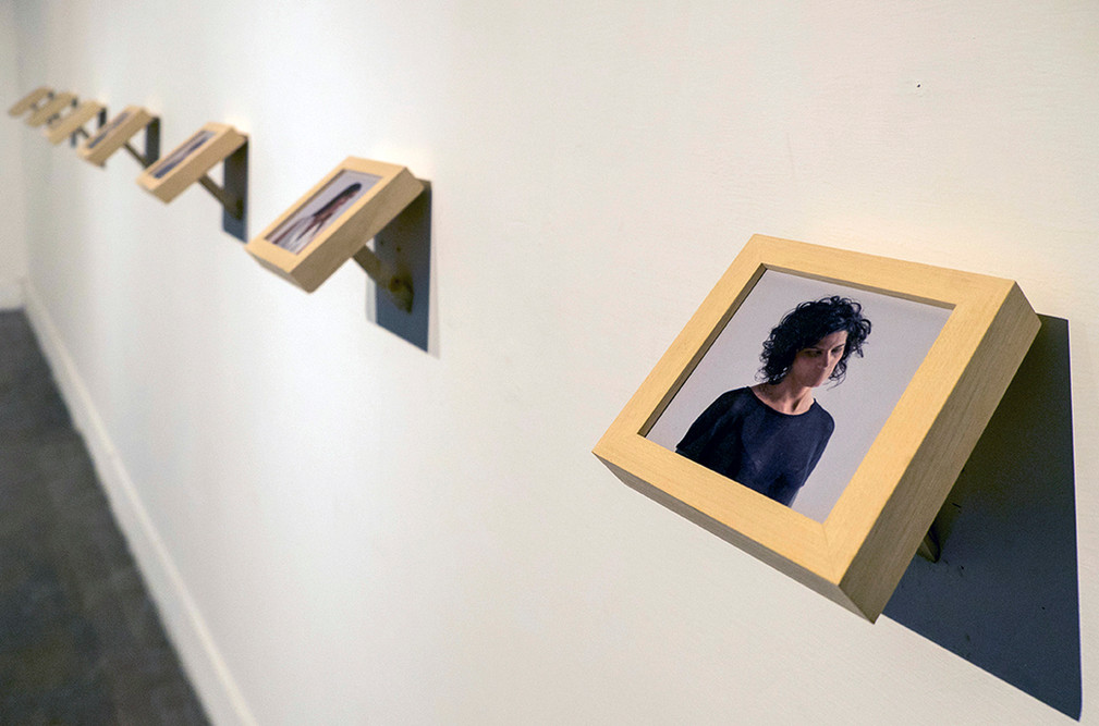 "Installation view of Arturo Betancourt's ""Perfect Citizen"""