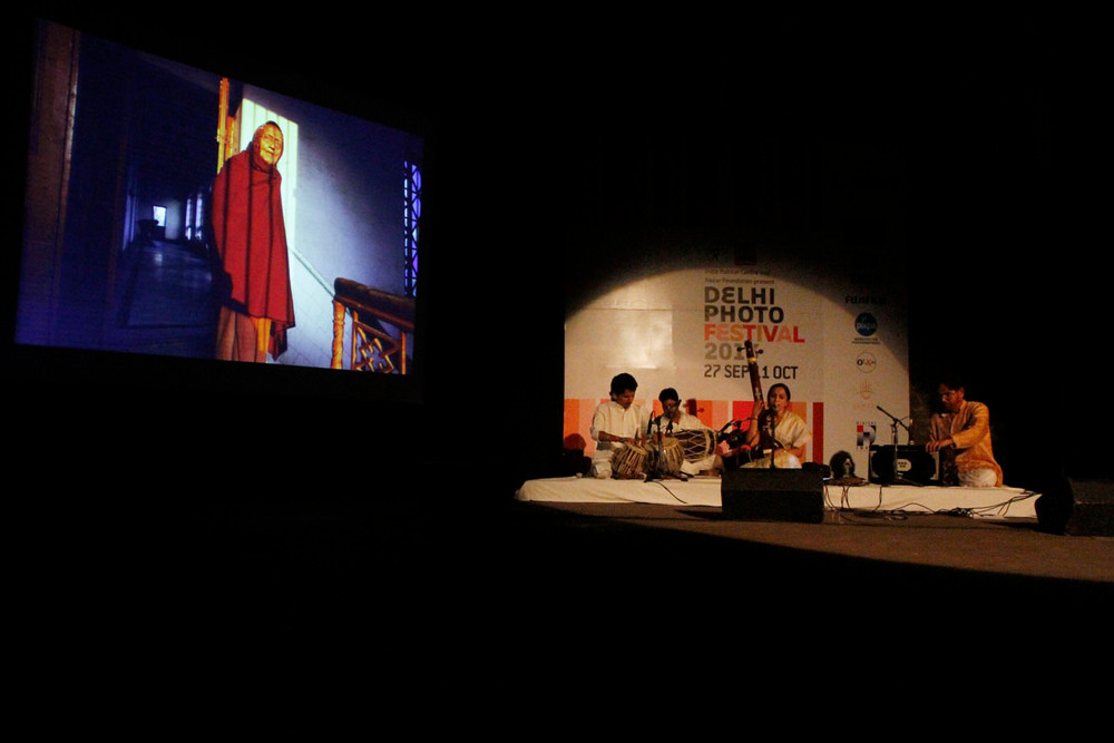 """A special performance by Vidya Shah and her accompanying musicians titled """"Of Despair and Hope"""" with images curated by Parthiv Shah"""