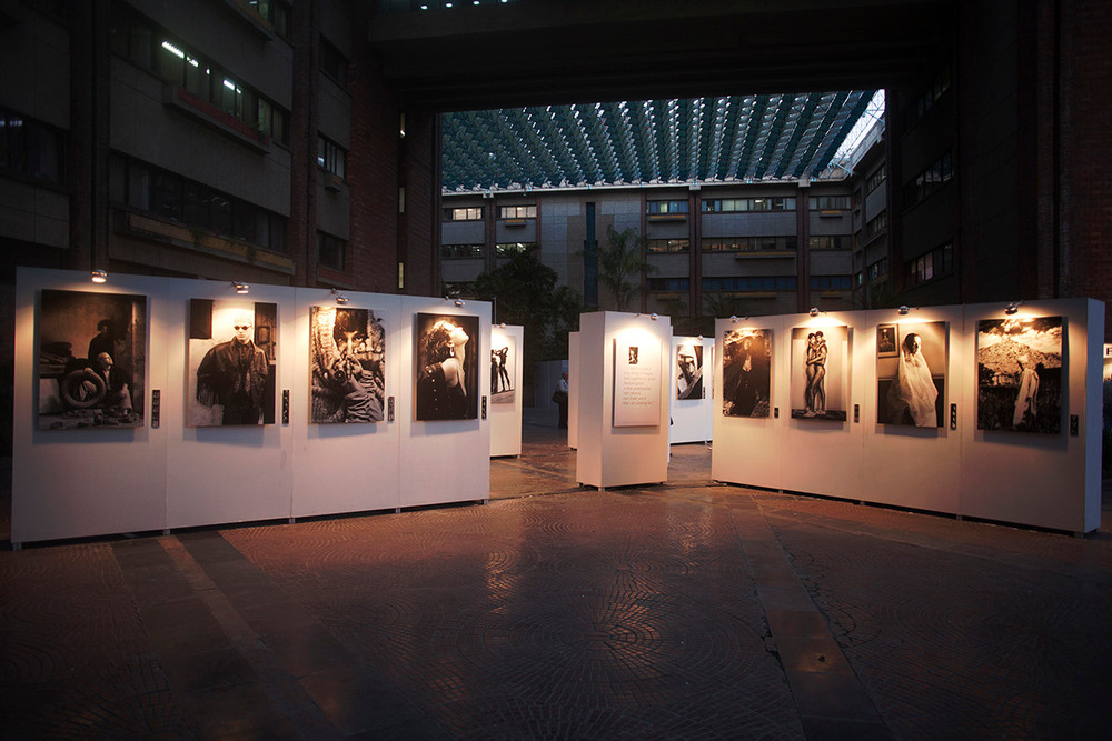 "Installation view of Prabuddha Dasgupta's ""Early Work : Late 1980s – 1990s"""