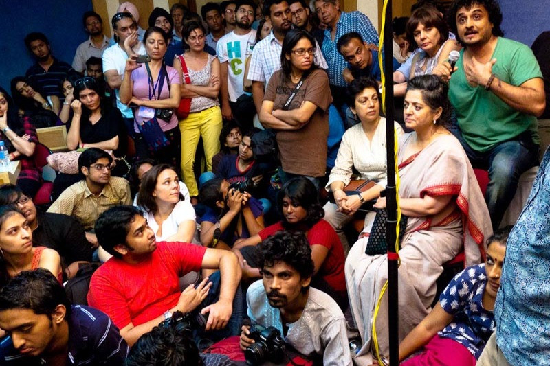 A view of audience and participants during the artists talks and discussions