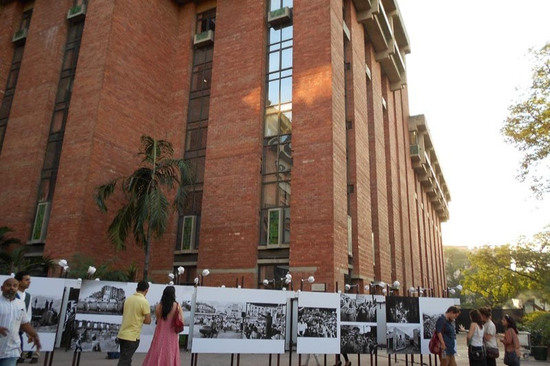 """Installation view of the exhibition """"Photographing the Street"""" featuring photography from SAARC countries in the India subcontinent curated by Devika Daulet-Singh"""