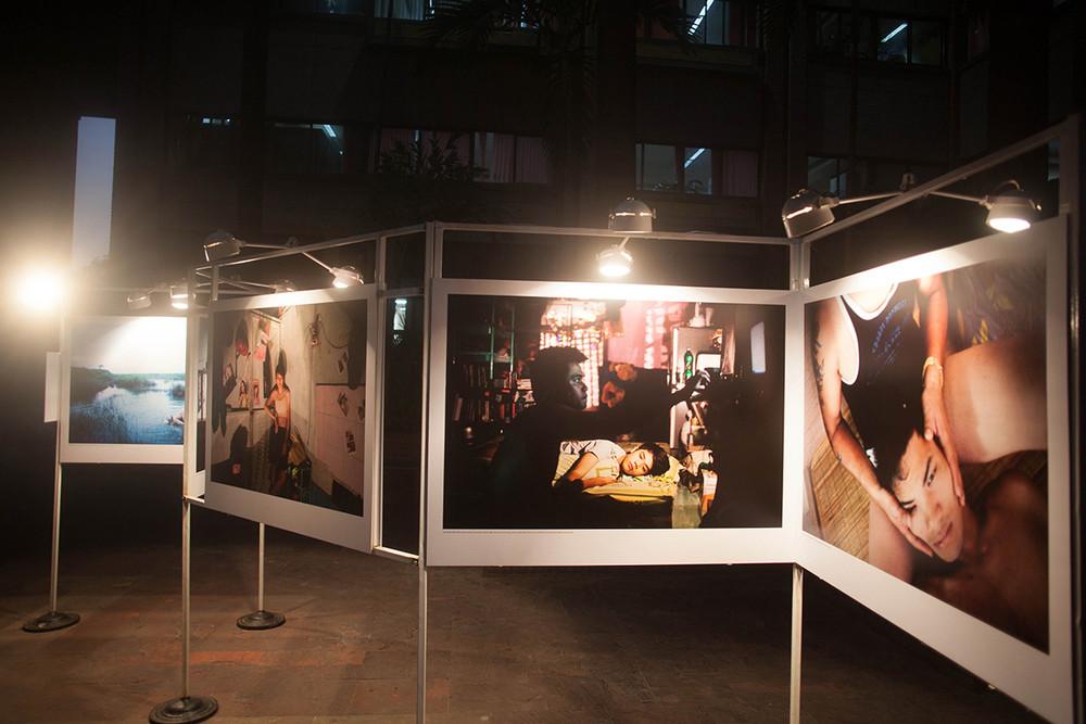 "Installation view of Maika Elan's ""The Pink Choice"""