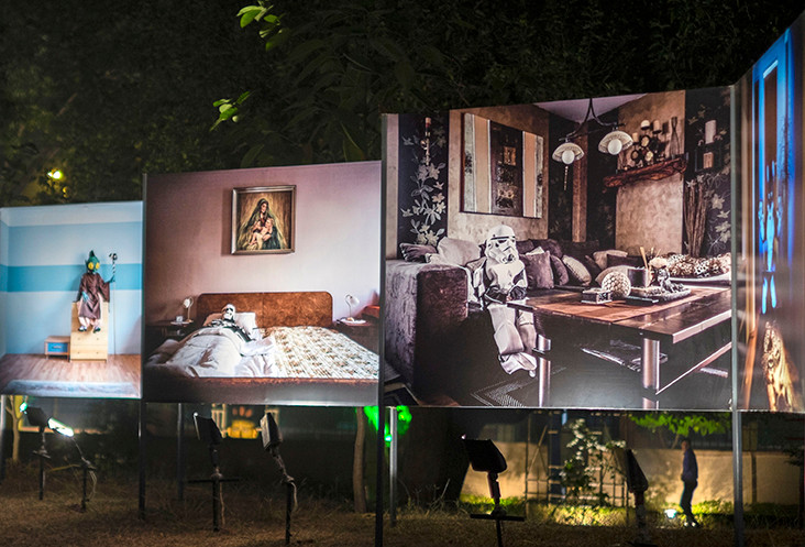 """Installation view of Klaus Pichler's """"Just the Two of Us"""""""