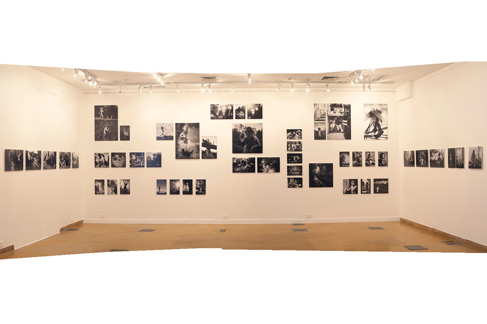 "Installation view of Alain Laboile's ""La Famille"""