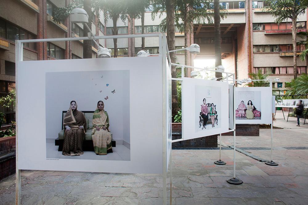 """Installation view of Jannatul Mawa's """"Close Distance"""""""