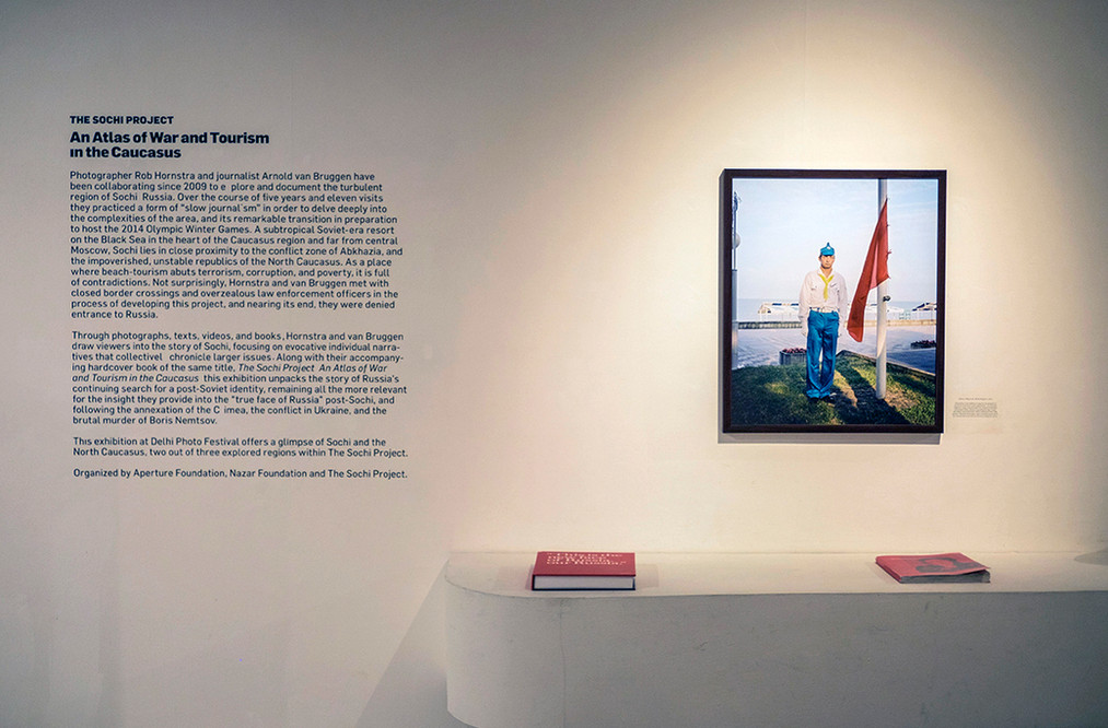 """Installation view of Rob Honstra and Arnold van Bruggen's """"The Sochi Project"""""""