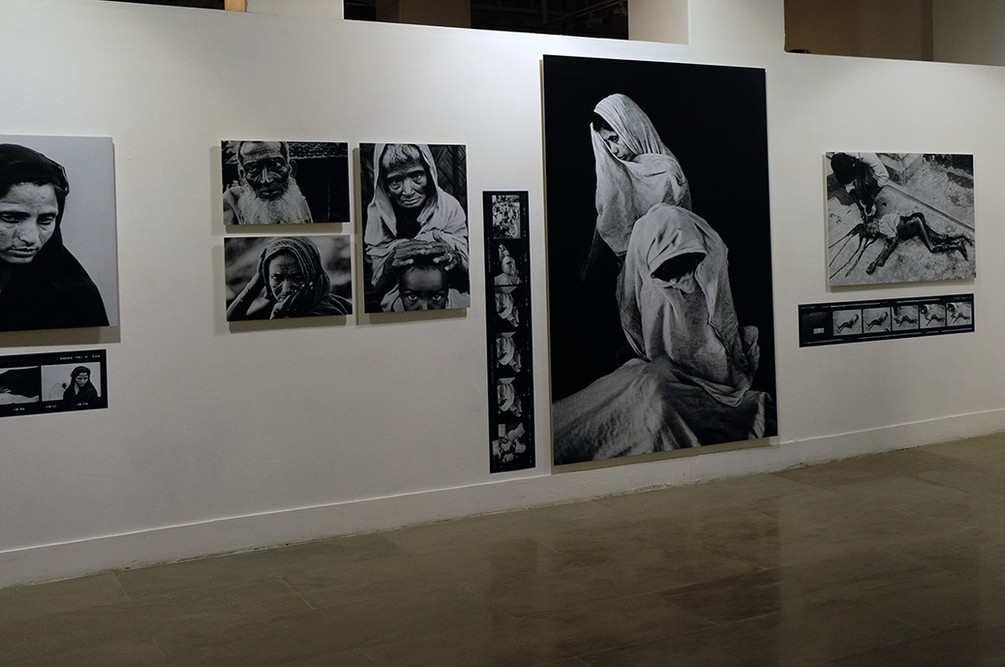"Installation view of Kishor Parekh's ""Bangladesh–A Brutal Birth"""