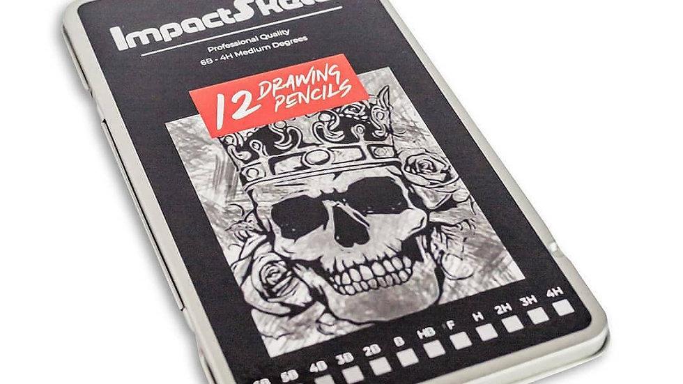 ImpactSketch Professional Graphite Drawing Pencil Set