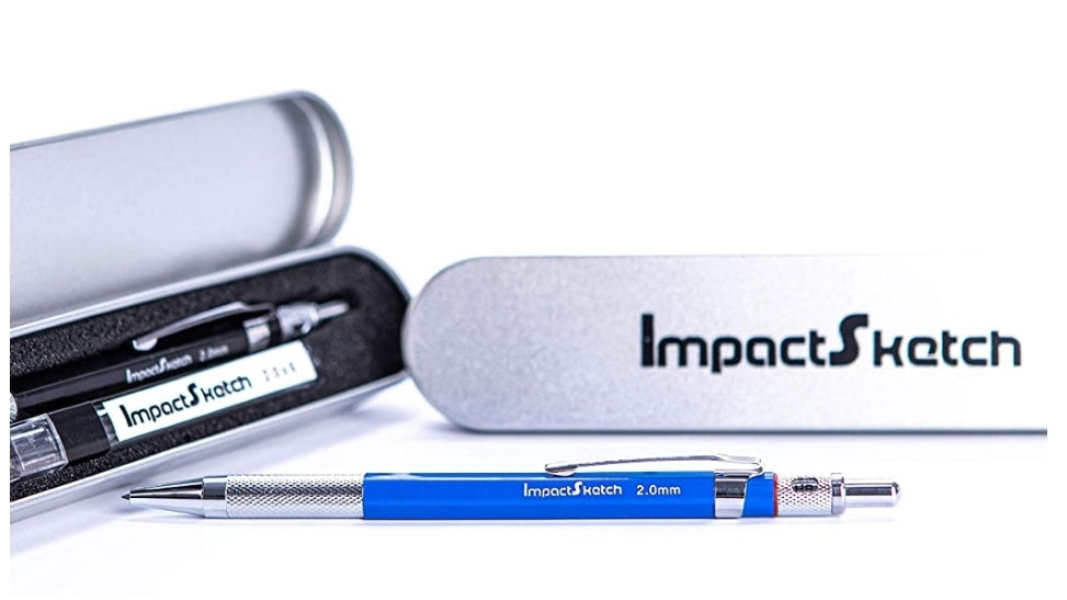 ImpactSketch Mechanical Pencil & Lead Set, complete with Metal Presentation Case