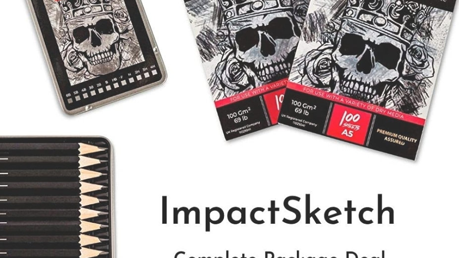 ImpactSketch Drawing Set Sketch Pads and Pencil Set A5 A4 and 12 Pack Pencil Set