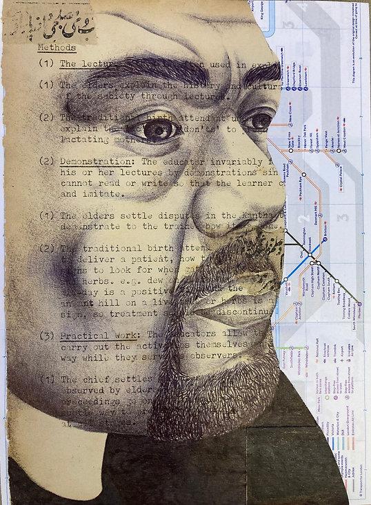 Habib Hajallie collage drawing