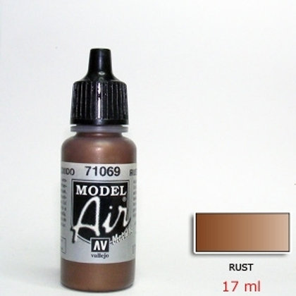 Vallejo Rust Metallic Acrylics Color 17ml