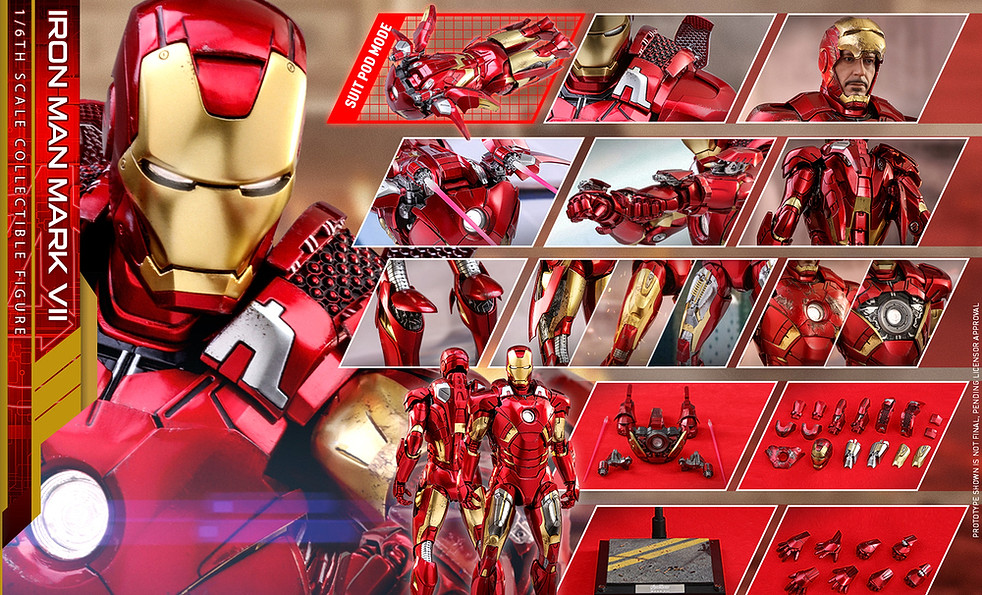 Hot Toys - MMS500D27 - The Avengers - 1/6th scale Iron Man Mark VII Collectible Figure