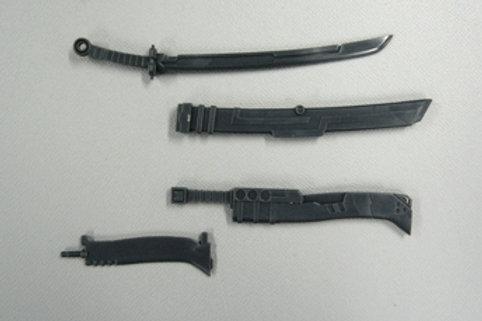 MSG Weapon Unit Samurai Sword and Machete.