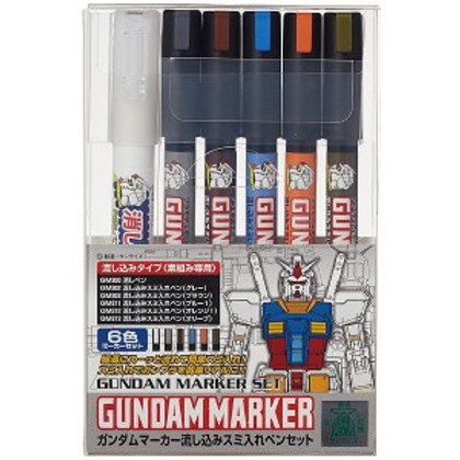 Gundam Marker Extra Thin Type for Panel Lines Set
