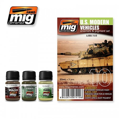 Ammo MIG US MODERN VEHICLES SET