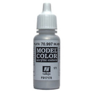 Vallejo Silver Metallic Acrylics Color 17ml