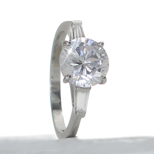 Round Brilliant 3 stone Diamond Engagement Ring Downtown Los Angeles Diamond District