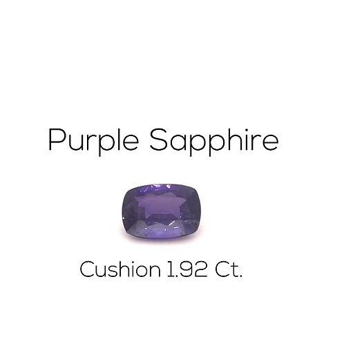 Cushion Ceylon Purple Sapphire Downtown Los Angeles Diamond District
