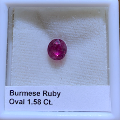 Oval Ruby 1.58 Ct.