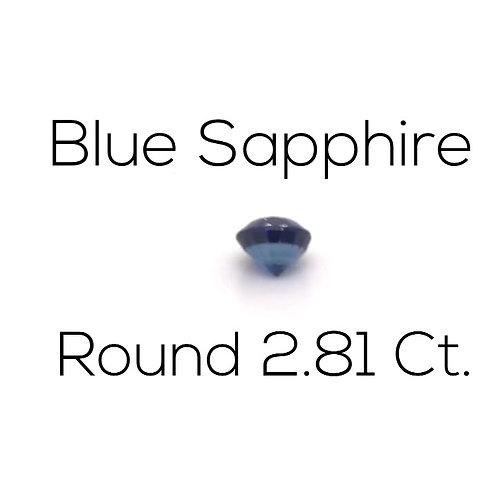Round Blue Sapphire Gemstone Downtown Los Angeles Diamond District