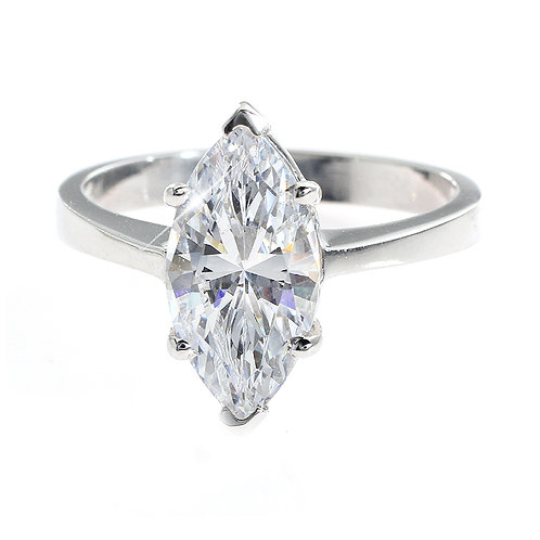 Marquise Diamond Solitaire Engagement Ring Downtown Los Angeles Diamond District
